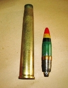 40MM L60 Bofors HE-T round, brass case WWII